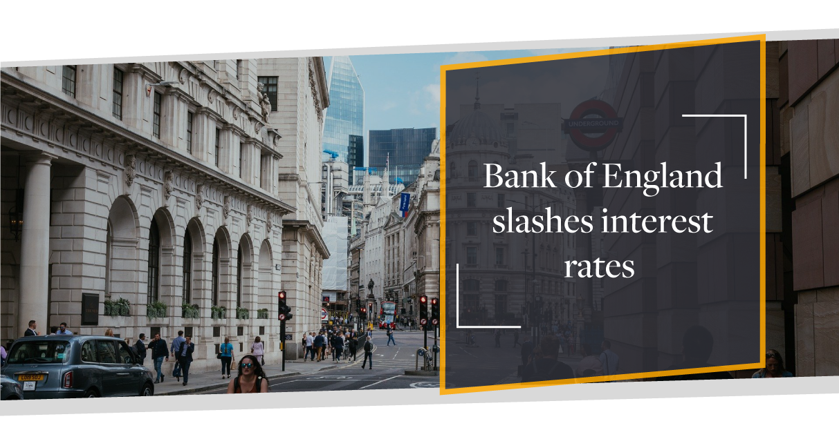 Bank of England slashes interest rates to an all time low
