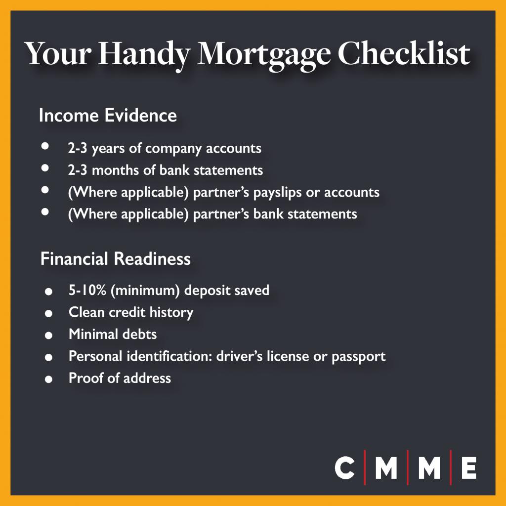 mortgage for company directors checklist